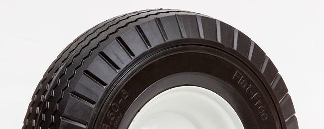 13ff30c 58 13 flat free wheel 3 50 6 sawtooth 3 25 oc box handtruck tire