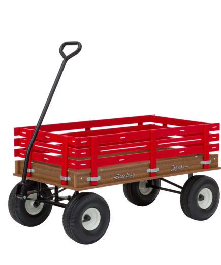 red poly wagon