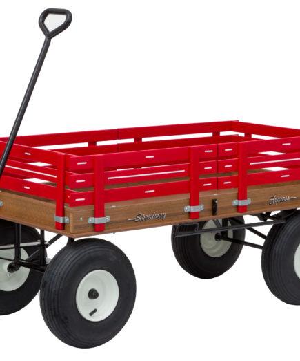 large poly garden wagon