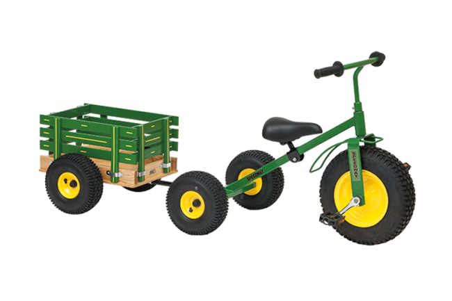 trike with wagon green