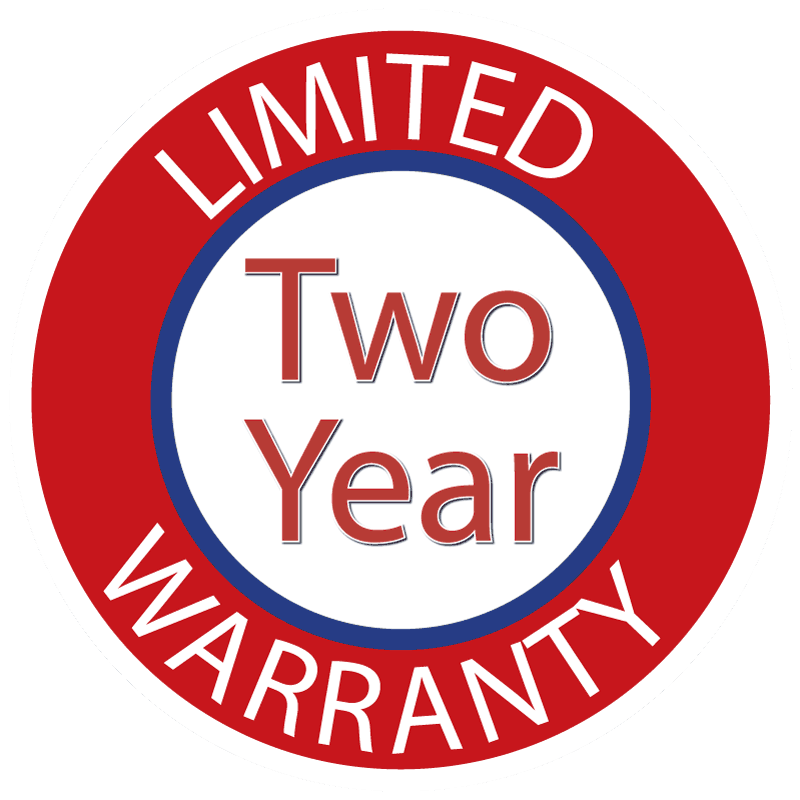 Two Year Limited Warranty Seal