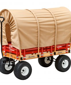 conestoga wagon style covering for a play wagon