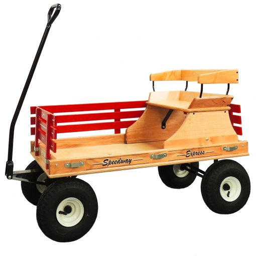 premium maple seat for a play wagon