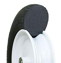 flat free 20 inch garden cart wheels