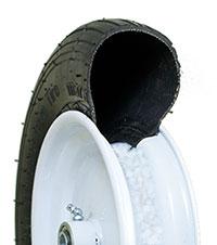 pneumatic 20 inch garden cart wheels