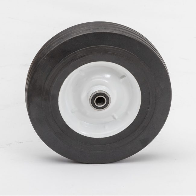 10225h 10 hard rubber wheel 102 75 ribbed 2 1 4 oc utility trundler tire