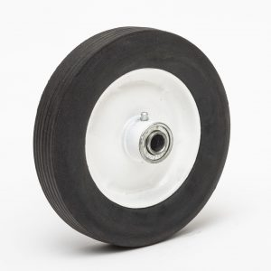 8175h 8 hard rubber wheel 81 75 ribbed 1 3 8 oc box cart tire