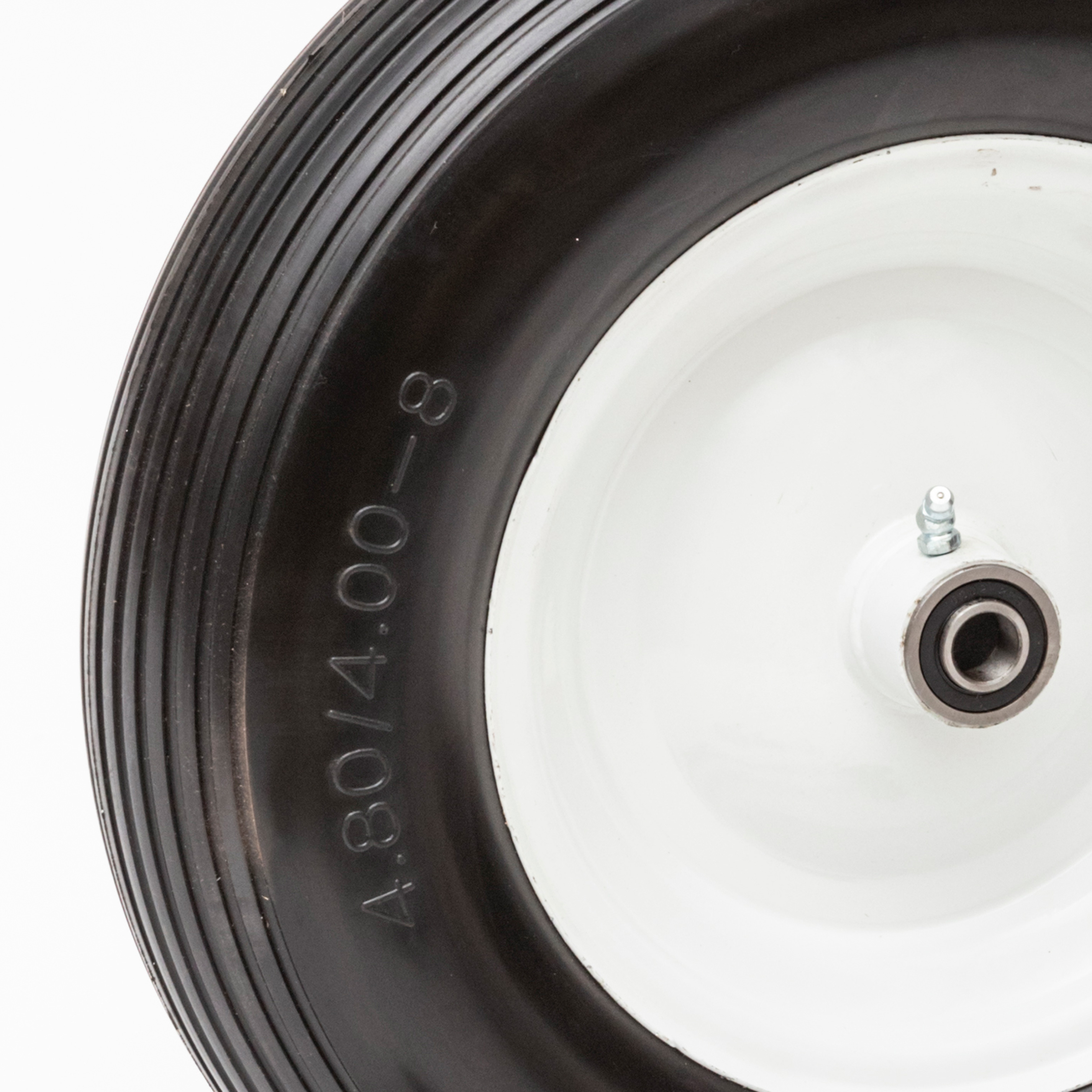 2-Pack 13 In No Flat Wheelbarrow Replacement Wheel Carts 5//8 in and 3//4 in Axles