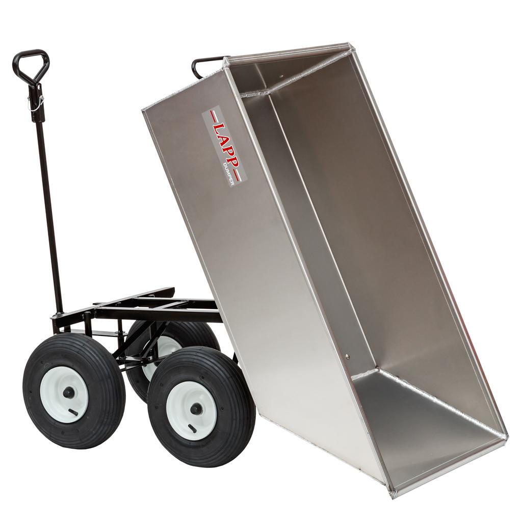 10 cubic foot aluminum dump cart