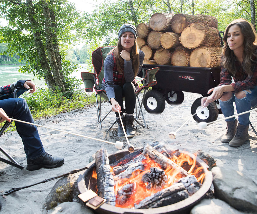 dump cart work wagon with fire place 3