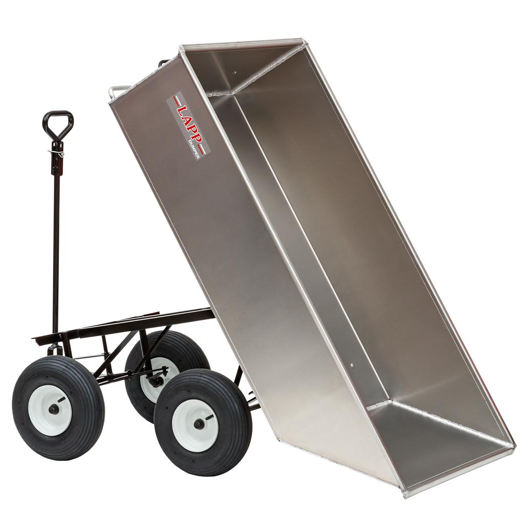 large aluminum dump cart