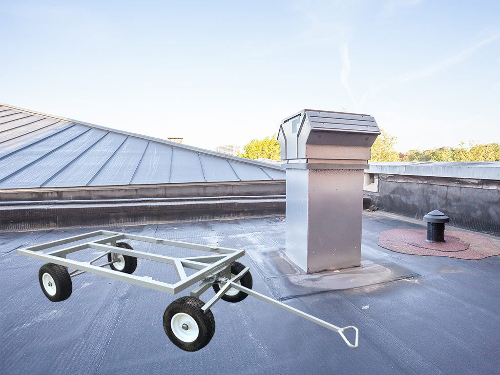 flat roofing work wagons