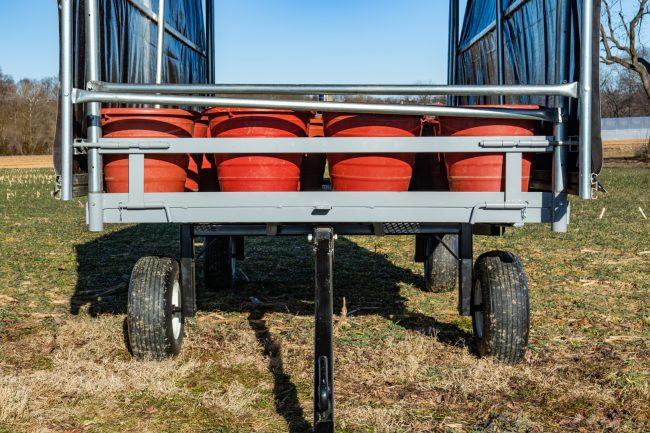 pulling produce wagon